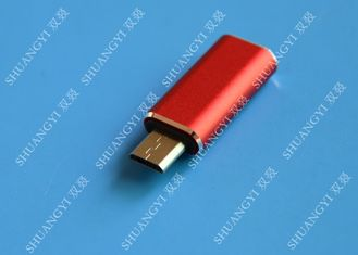 Trung Quốc Red USB 3.1 Type C Male to Micro USB 5 Pin Micro USB Slim For Cell Phone nhà cung cấp