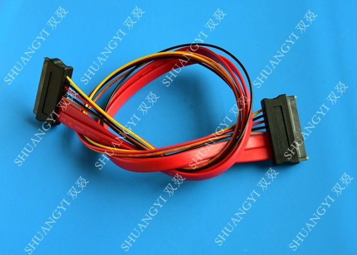 Red SATA Data Cable Slimline SATA To SATA Female / Male Adapter With ...